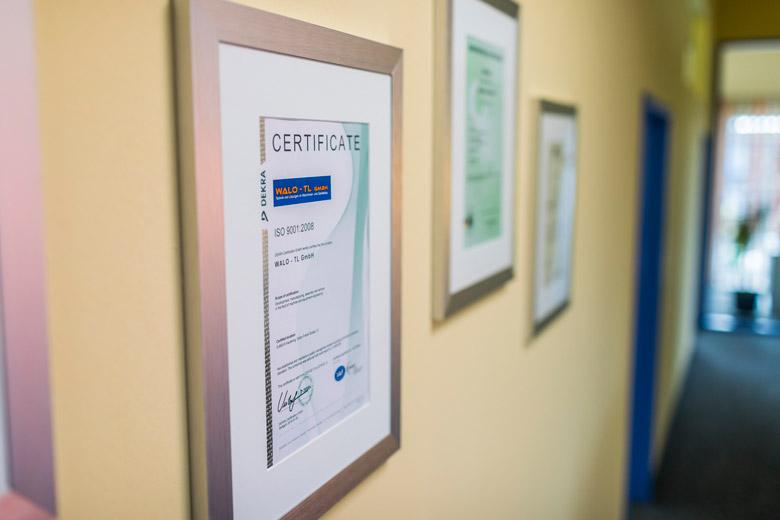 ISO-Zertifikat WALO-TL