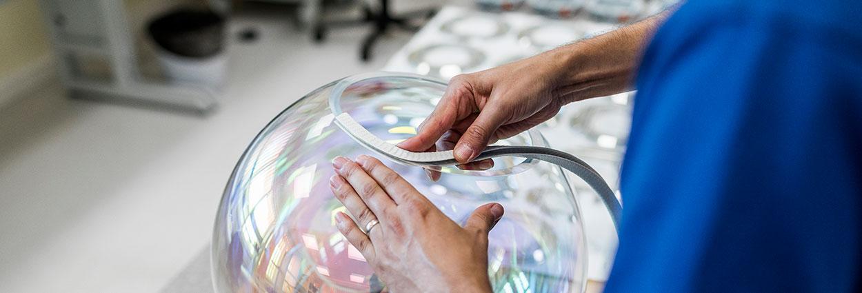 Lichttechnik Fertigung OLED-Leuchte