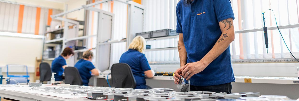 Lichttechnik Mechatronik OLED-Produktion