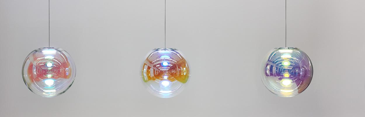 OLED lamp IRIS in different colors